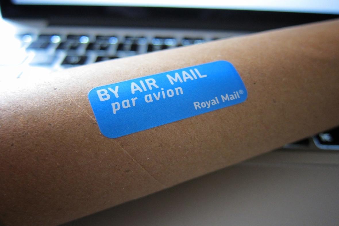 Post and parcel management - parcel on keyboard