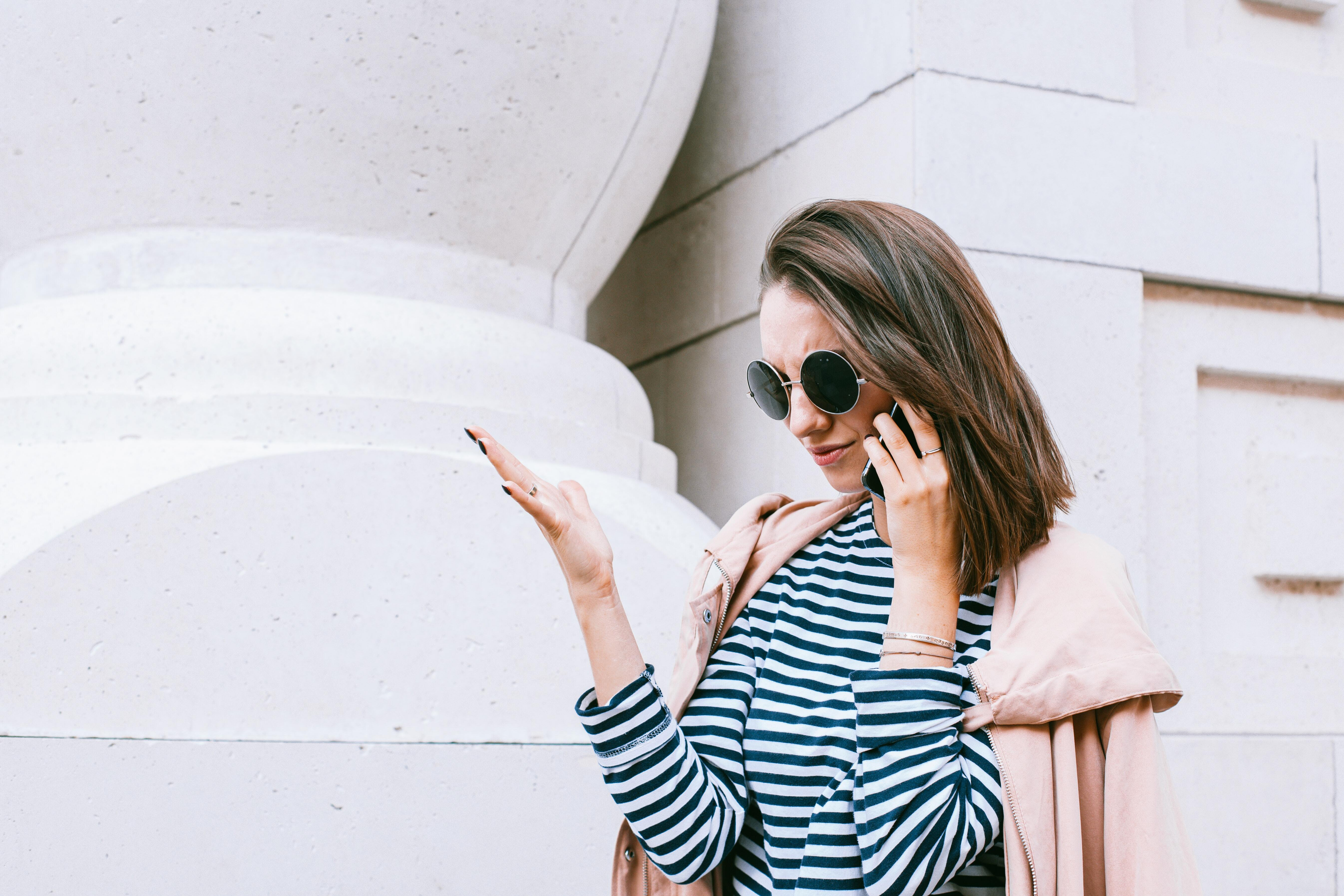 Woman outdoors on mobile phone